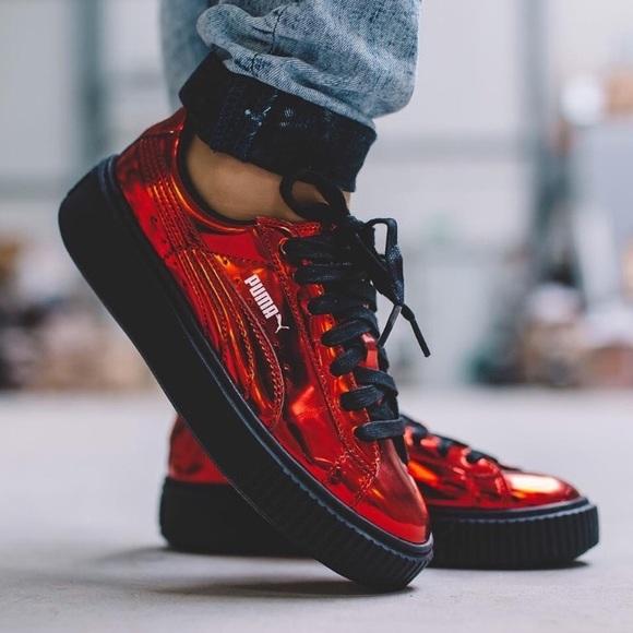 ec5566ff5a5668 Puma Fenty Women s Metallic Creeper Sneaker Shoes